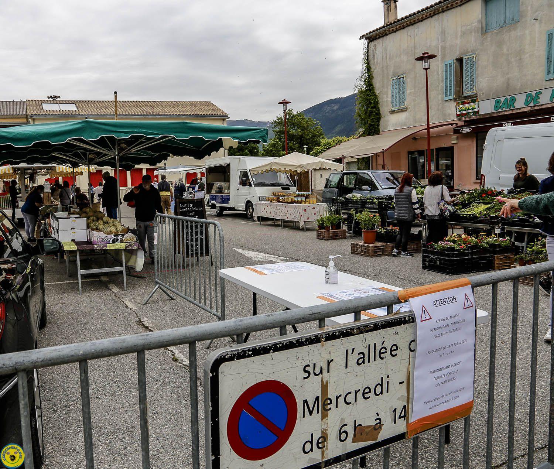 St André les Alpes   : Premier marché après le déconfinement