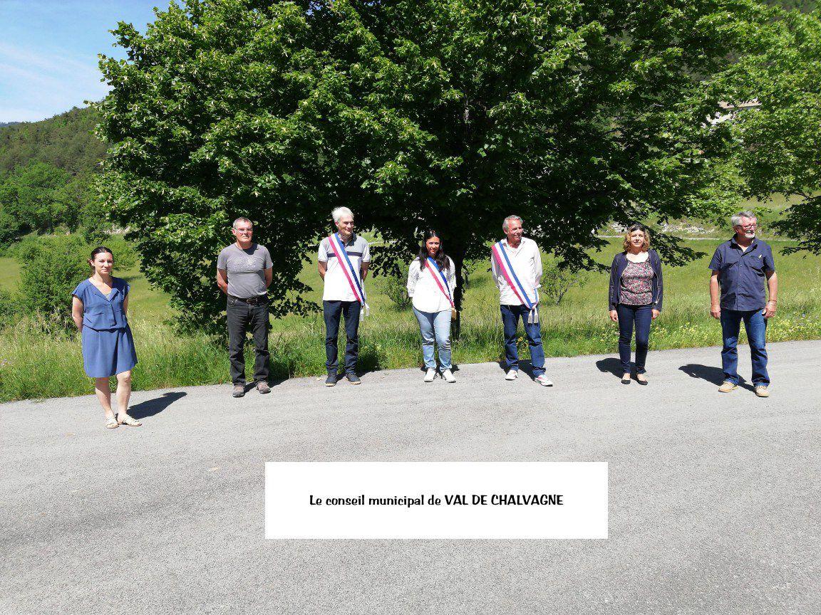 Val de Chalvagne  : Installation du Conseil Municipal et élection du maire et des adjoints
