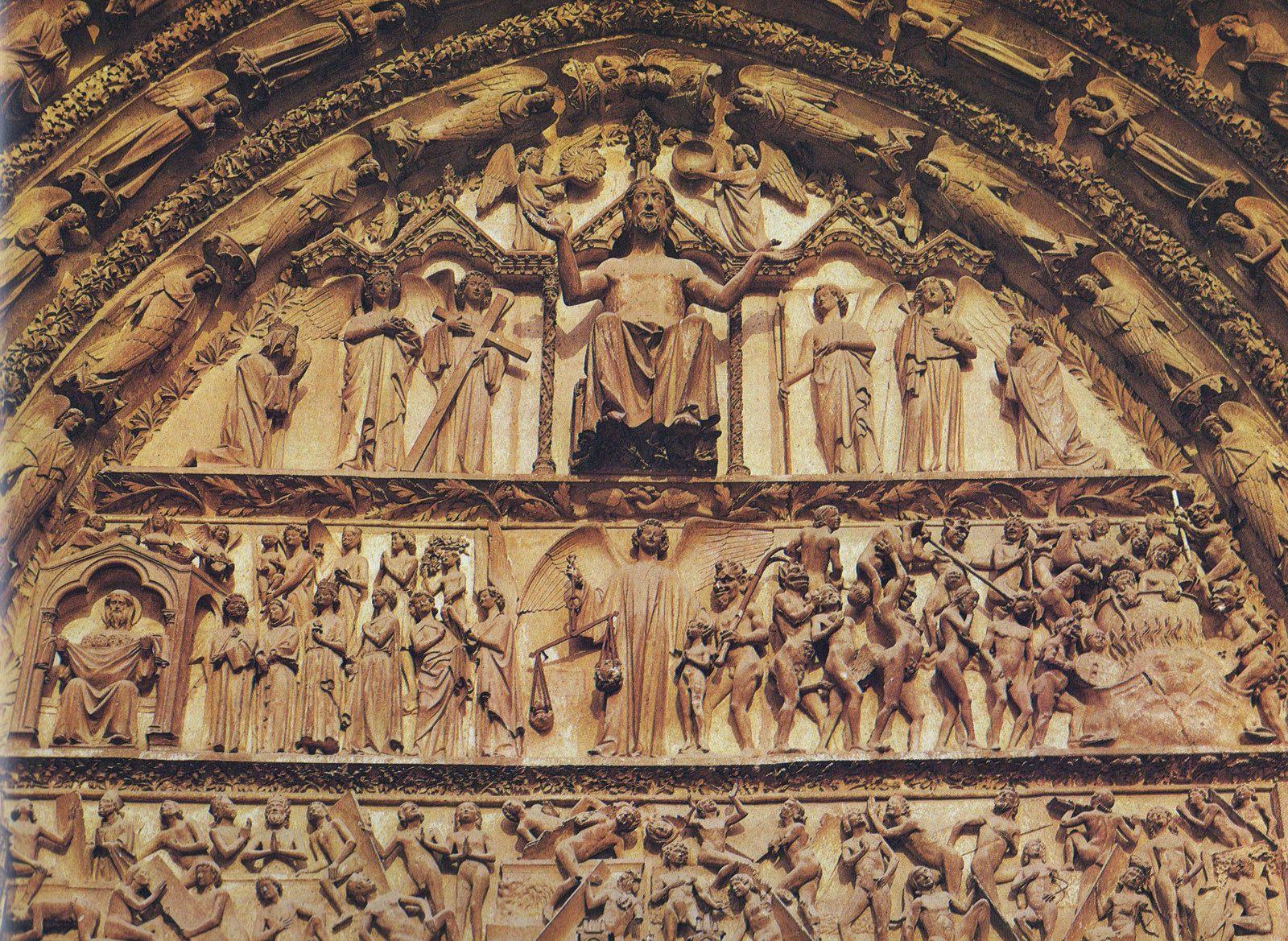 Bourges - Façade occidentale : le portail du Jugement dernier…