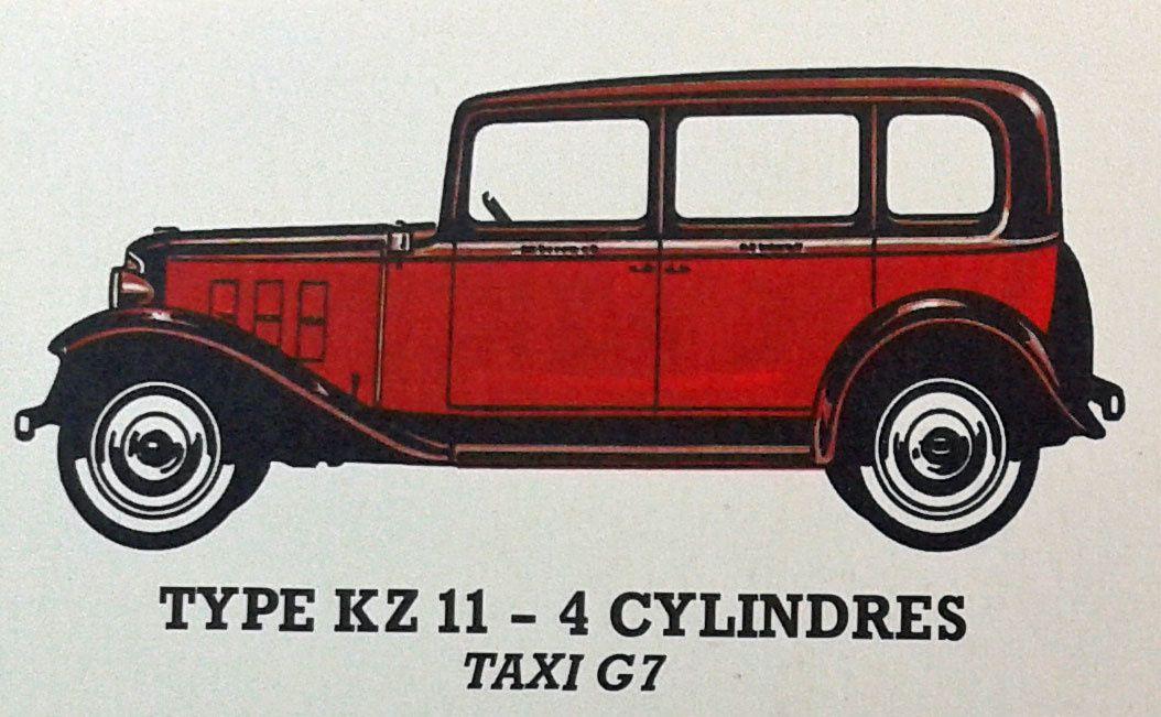 Le taxi G7 - Renault type KZ11 de 1933...