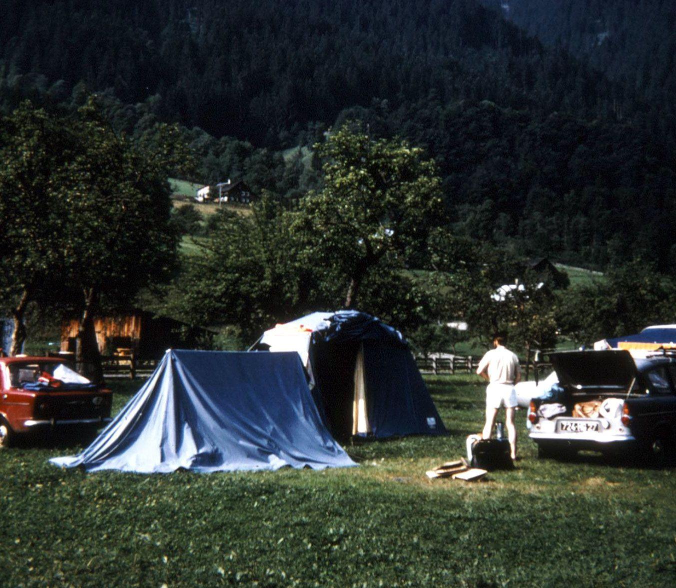 Notre campement à Dalaas, le lendemain matin avant de repartir pour la 2ème étape...