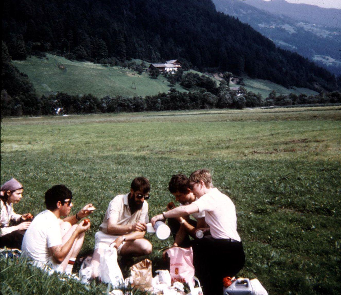Pique-nique quelque part dans le Tyrol
