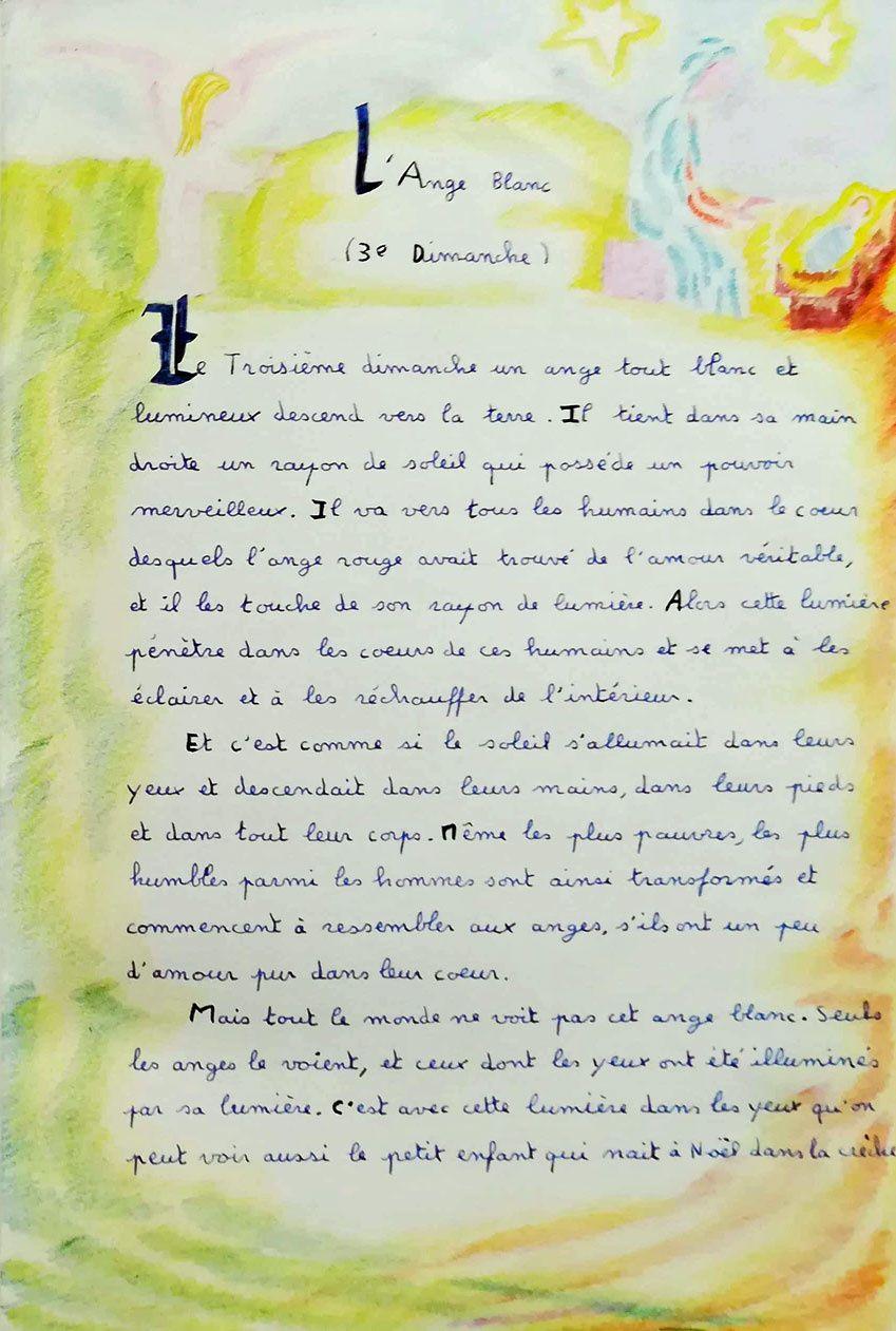 Le rossignol -  l'Ange blanc - Avent : 14e et 15e soirs...