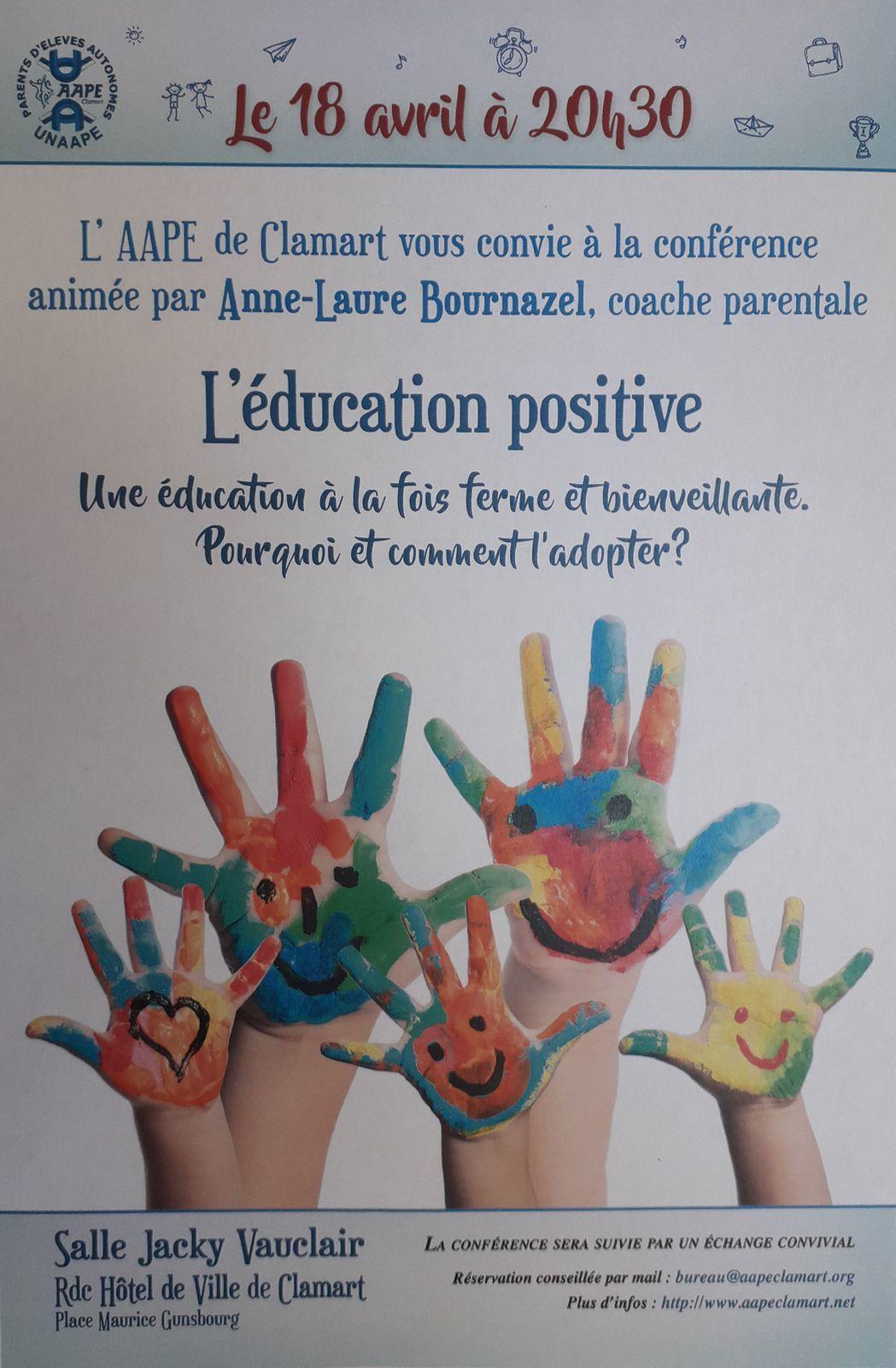 Conférence : l'éducation positive