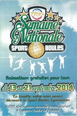 Semaine nationale du Sport Boules