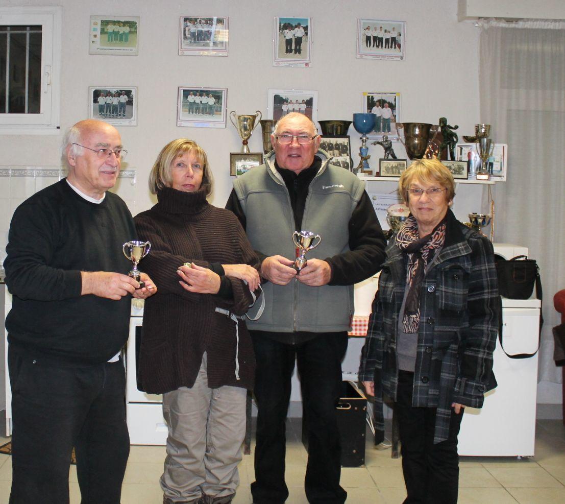 Les gagnants avec la présidente Françoise BOUCHET