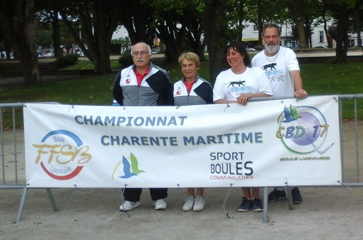 2015.06.14 ROYAN Championnat mixte départemental: Françoise et Jean-Louis BOUCHET vainqueurs