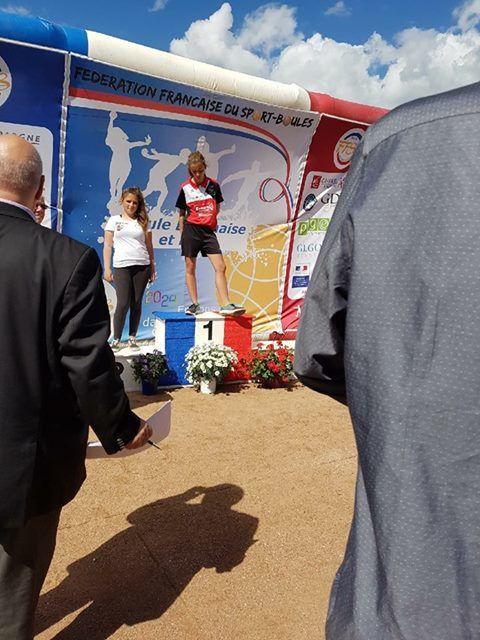 Samantha POIRIER (SPORT BOULES SAINTES) Finaliste Coupe de France
