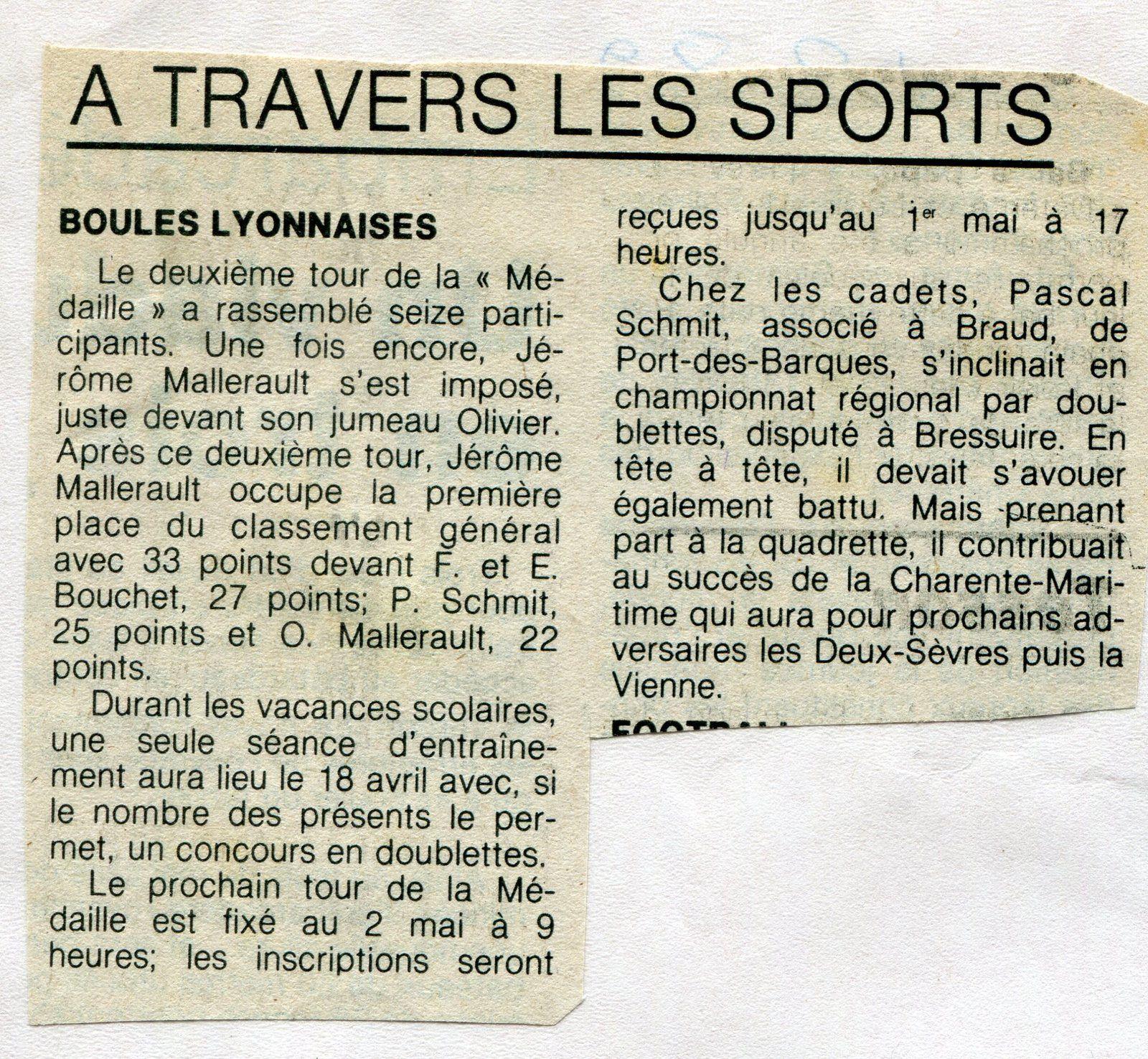 « Mon Billet du Samedi » 2020.07.04  '1982'