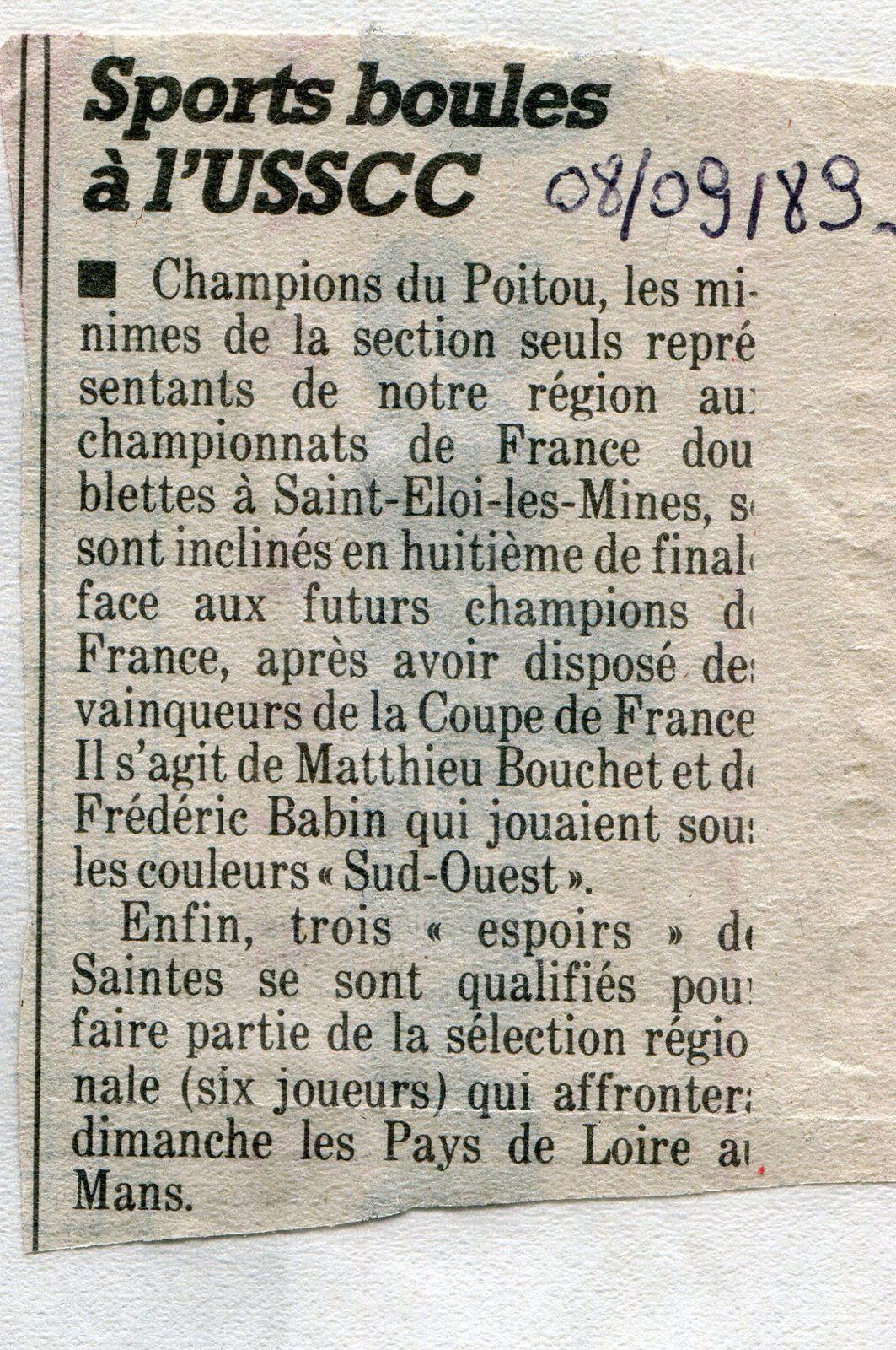 """« Mon Billet du Samedi » 2020.08.22 Année """"1989"""""""