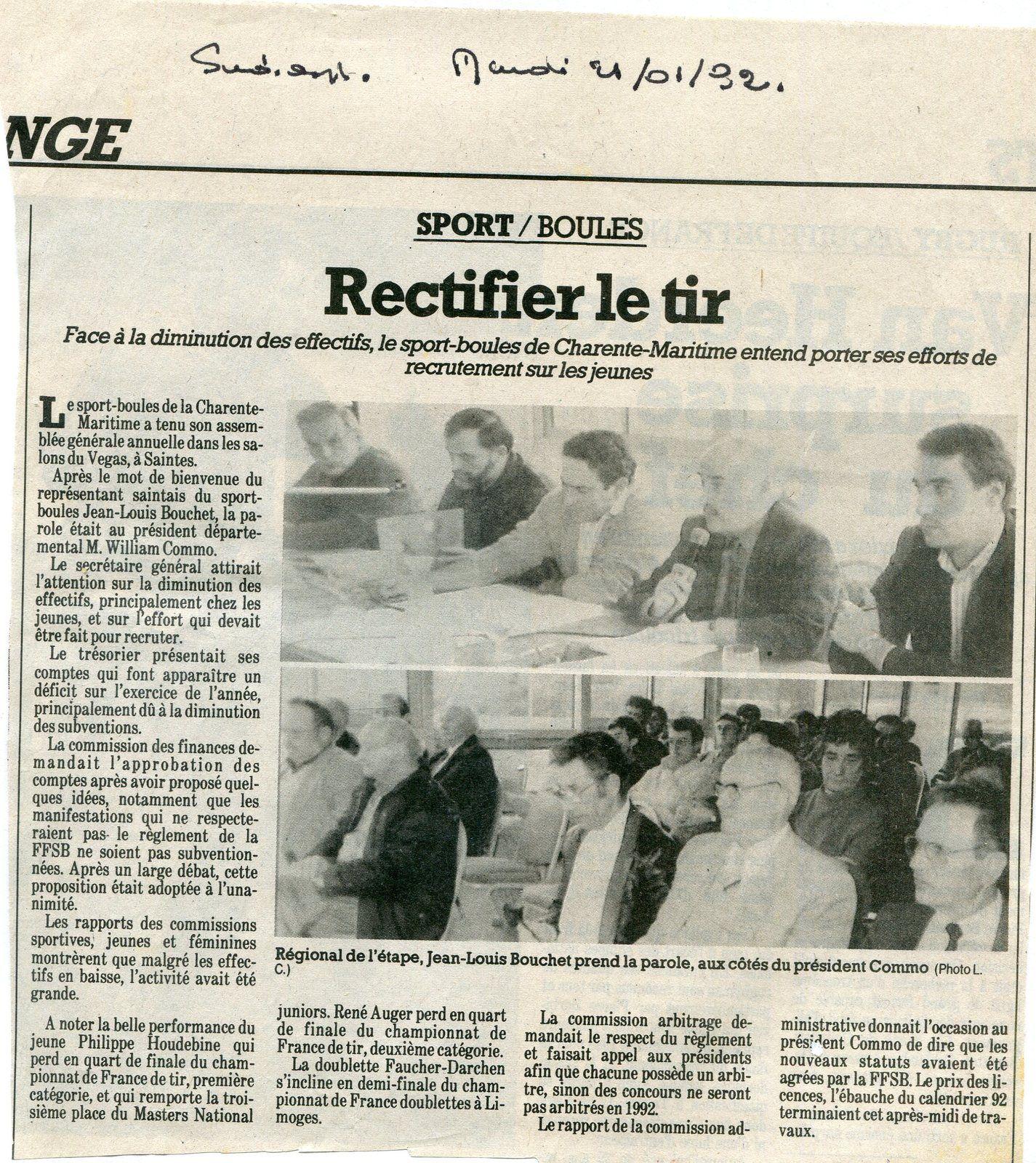 « Mon Billet du Samedi » 2020.09.12. Année 1992