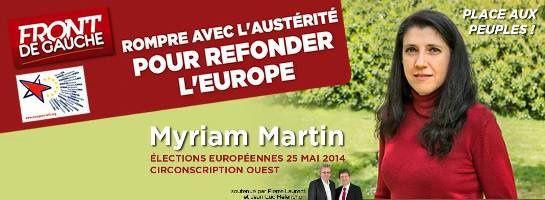 Élections européennes, l'intégralité de la liste Front de Gauche pour l'OUEST !