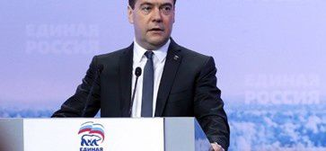 Le Premier ministre Dmitri Medvedev