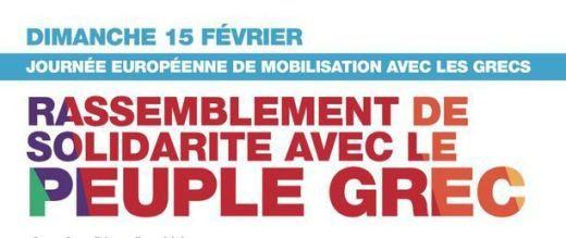 Dimanche 15 février : La Rochelle, Paris... journée européenne unitaire de mobilisation solidaire avec les Grecs