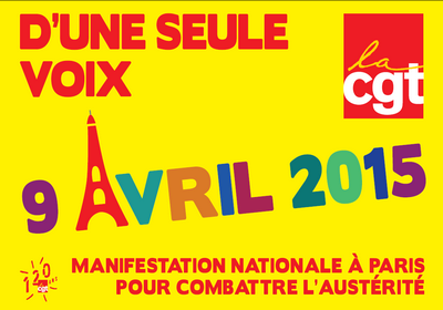 9 avril 2015 : journée nationale d'action unitaire interprofessionnelle