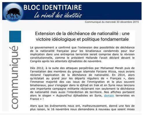 Déchéance de nationalité : le précédent ignoble de Vichy