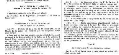 Extraits de la loi Pléven (1972)