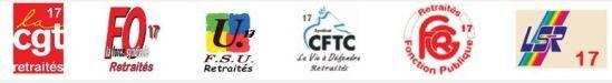 9 juin 2016 : les retraités de Charente Maritime dans l'action