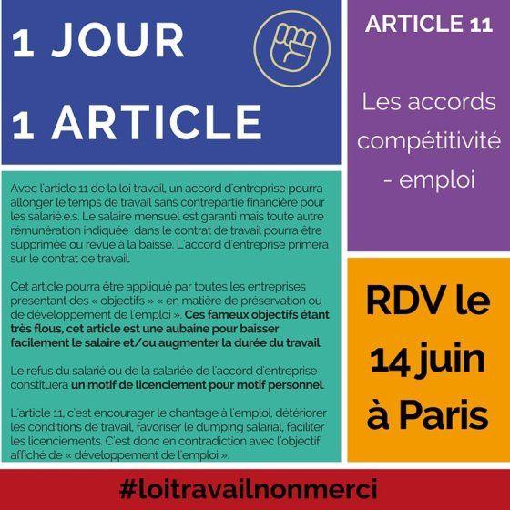 Loi travail : des arguments pour agir le 14 juin