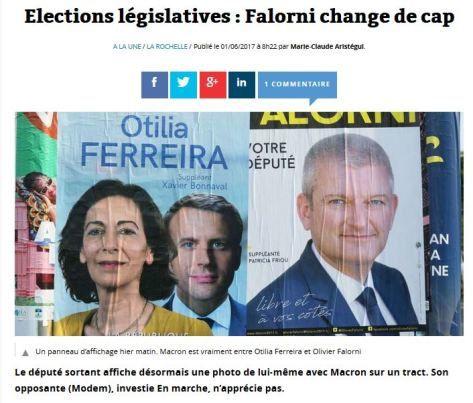 1ére cir. du 17 : La Rochelle/Ré 3 candidats de trop au service de Macron !