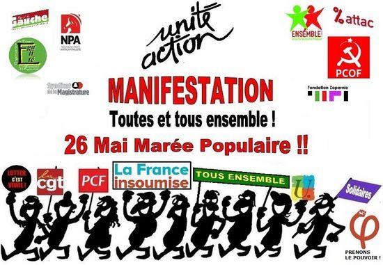 A La Rochelle et Saintes aussi... vers une marée populaire contre les réformes Macron, le 26 mai...