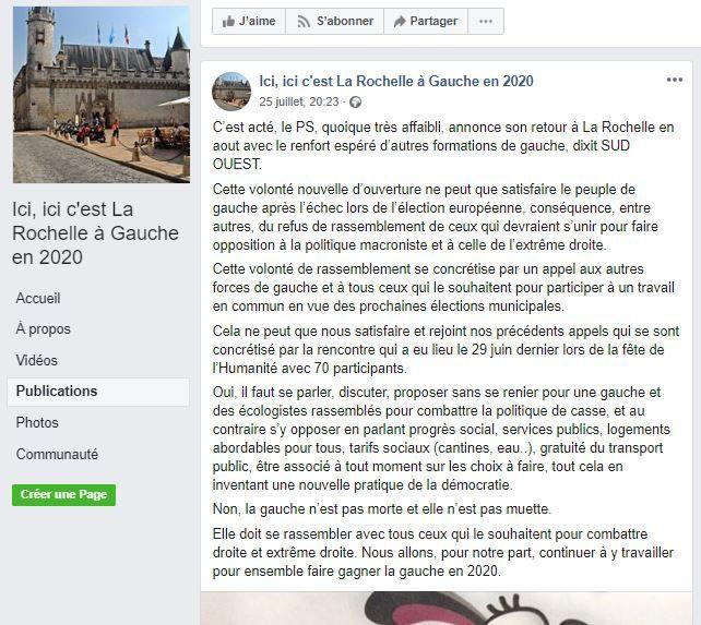 "Pour la France insoumise rochelaise, ce sera : ni J.F Fountaine, ni O. Falorni ni aucun autre "" Macron compatible """
