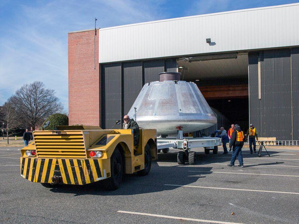 En janvier, maquette Orion, EM-2 et module de test d'abandon au lancement