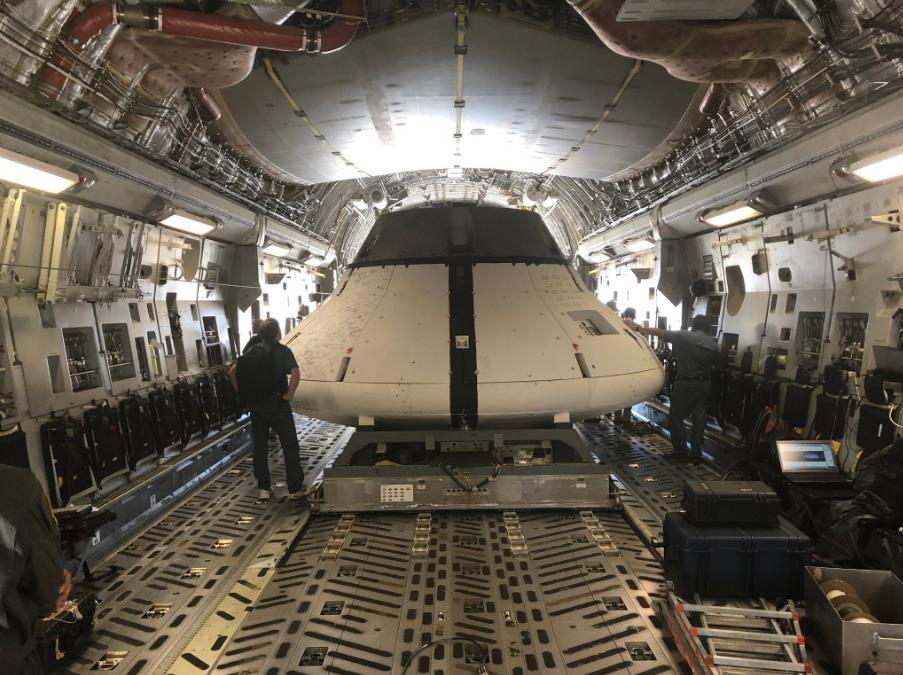 Ultime test des parachutes d'Orion