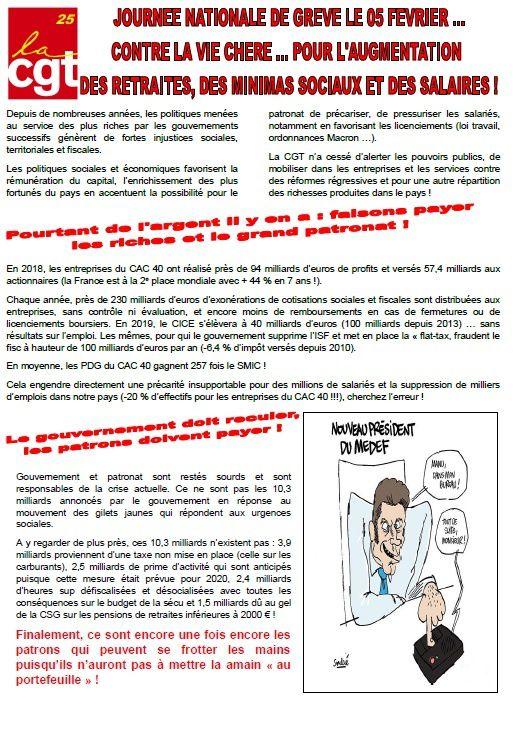 5 février 2019. Rassemblement à Montbéliard 14h00 devant la Mairie et 10h00 à Belfort