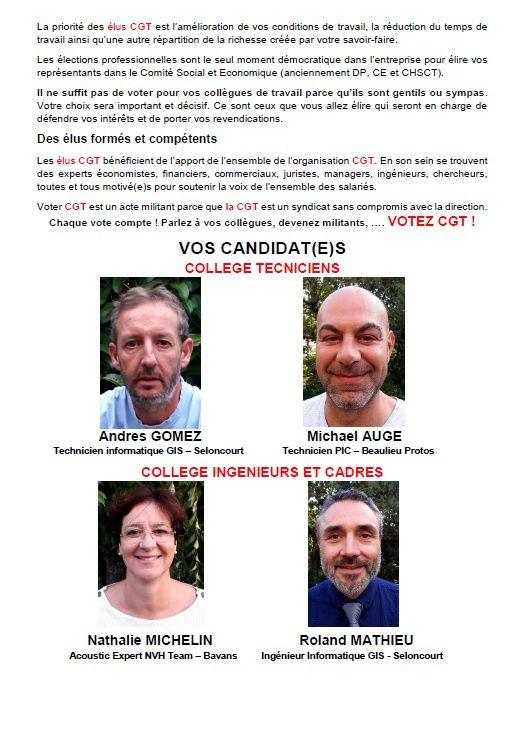OUI, à Faurecia Bavans/Beaulieu Structures il faut voter CGT, mais… POURQUOI ?