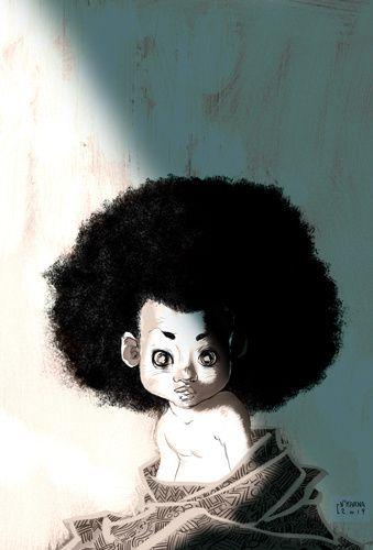 dessin art baby bébé illustration afro noire graphisme tuto