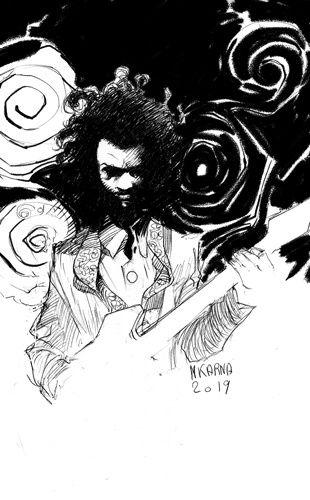 #inktober dessin noir et blanc art illustration inkdraw guitare hendrix musique rock funk soul blues jazz