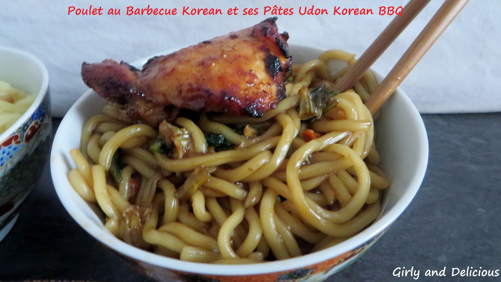 Poulet au Barbecue Korean et ses Pâtes Udon  Korean BBQ et Ramen Korean Boeuf