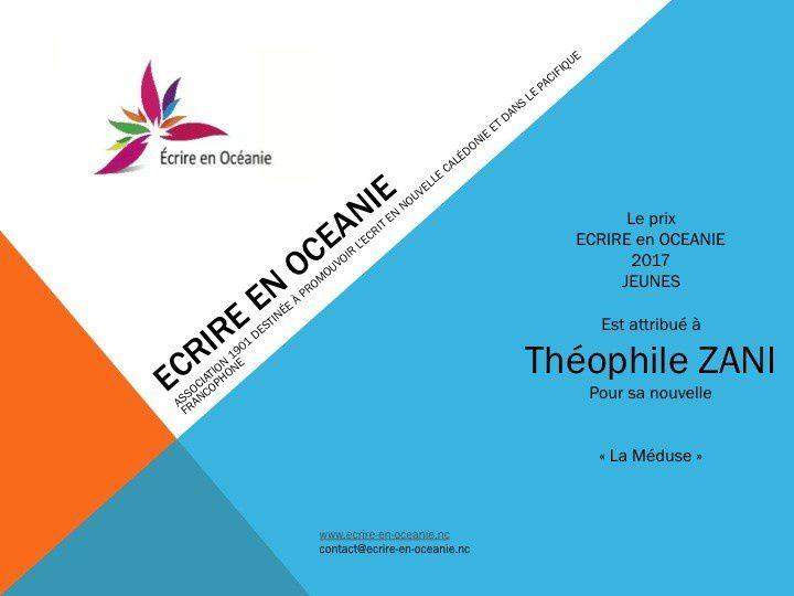 """Les prix """"Ecrire en Océanie"""" 2017"""