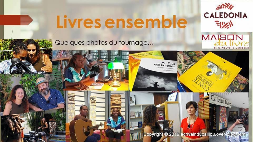 Montage Photo Calédonia NCTV Emission littéraire présentée par Océane Zobler et Philippe Boisserand
