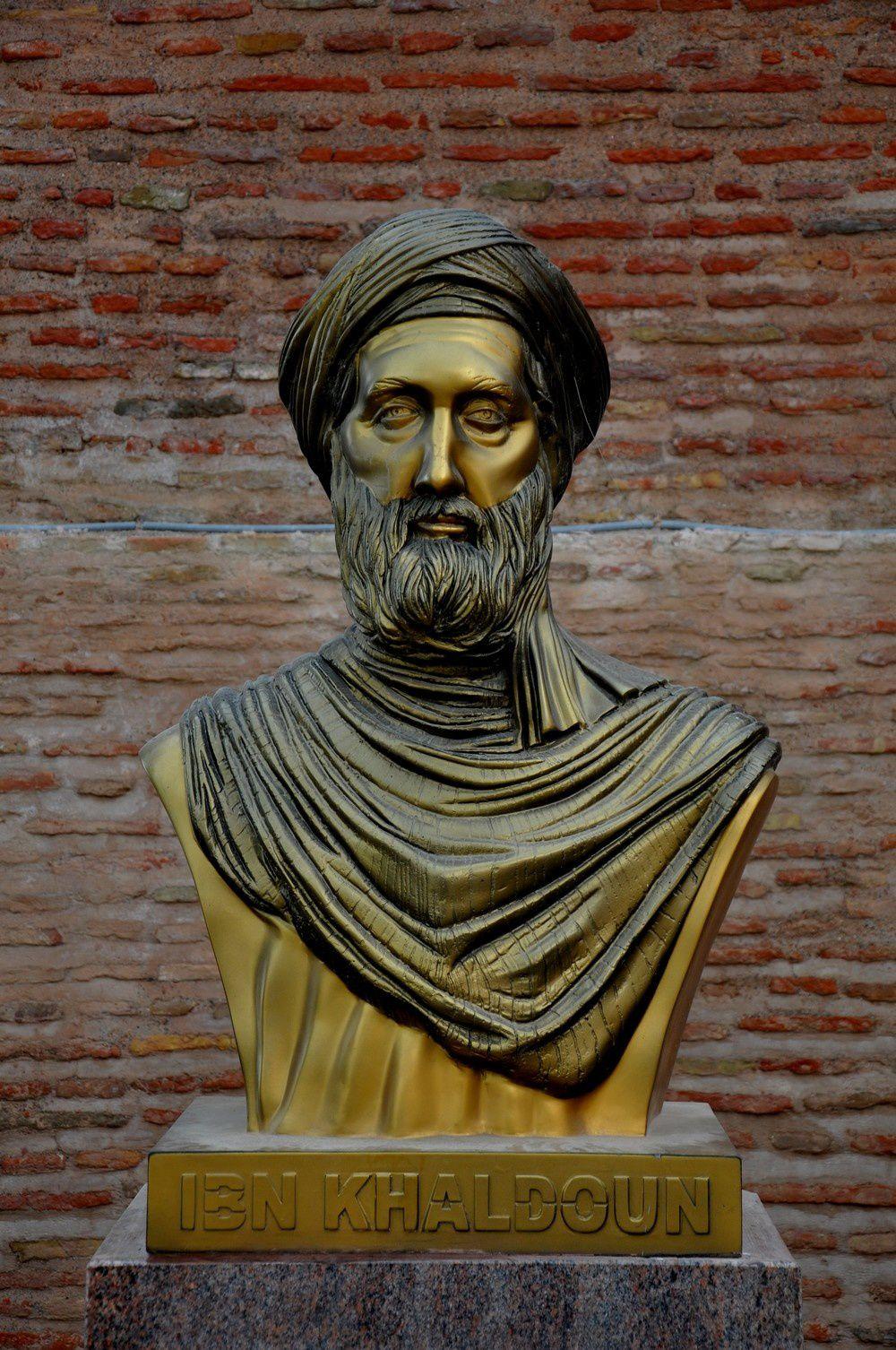 illustration avec le buste de Ibn Khaldoun