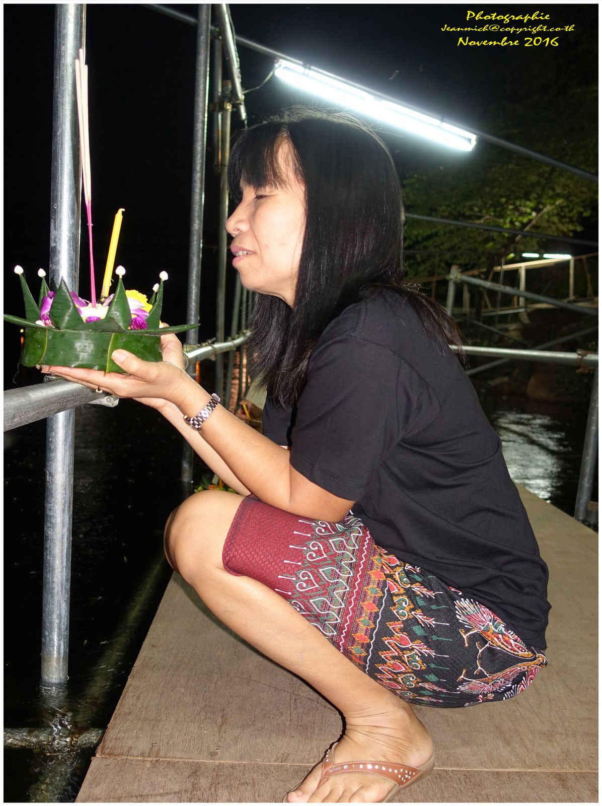 """Pleine lune de novembre en Thaïlande """"Loy Krathong"""""""