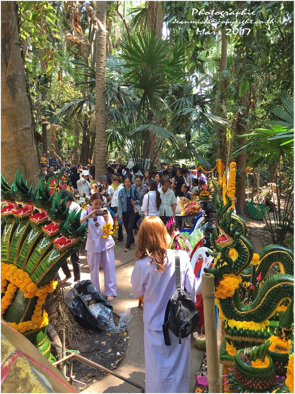 1ère étape, un temple Wat Kham Chanot วัด คำ ชะ โน ด (province d'Udon Thani)