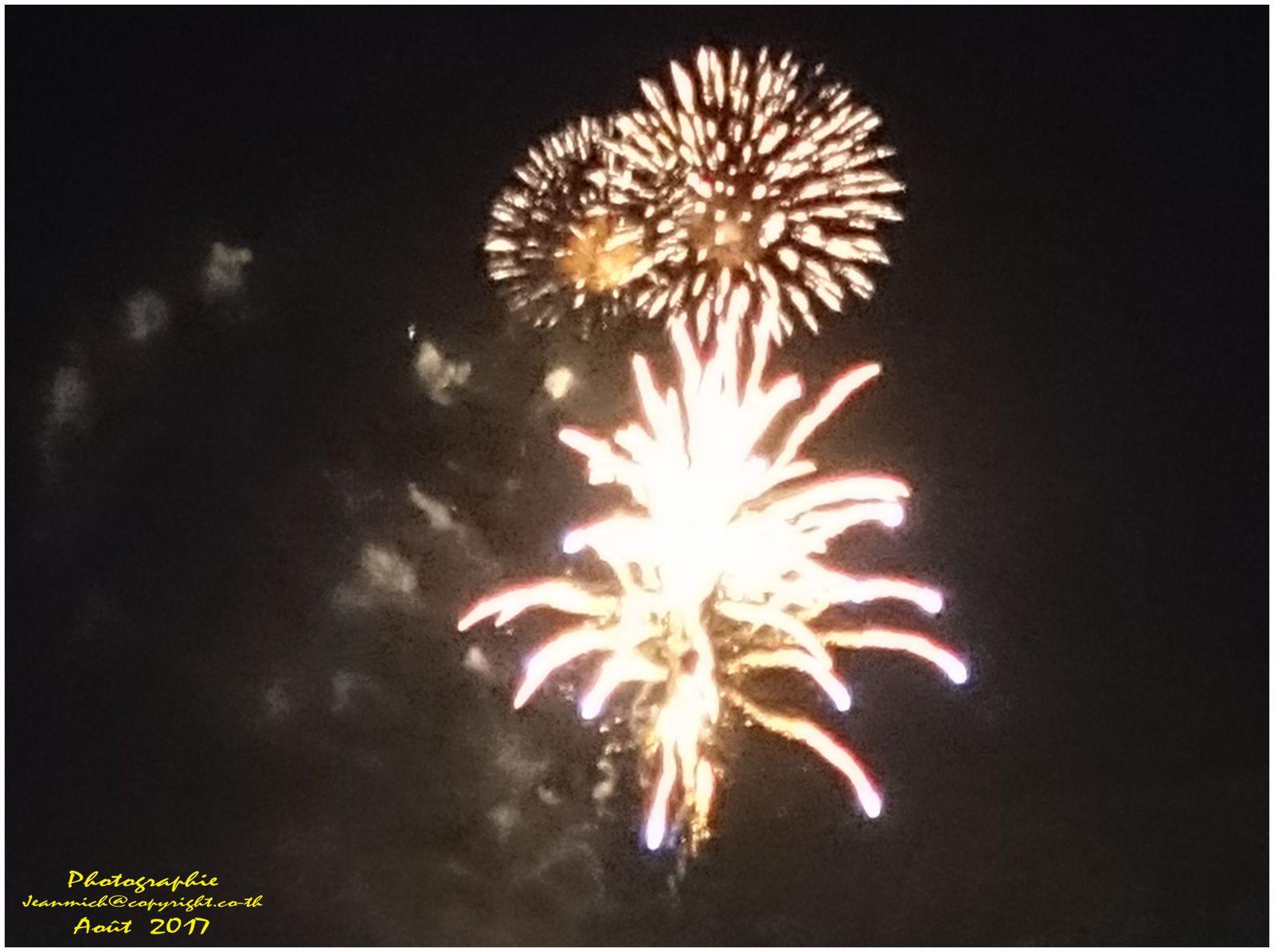 Souvenirs soirée pétards et feux d'artifices