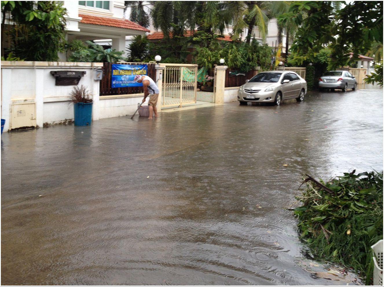 Le déluge sur Khon Kaen (Thaïlande, Isaan)