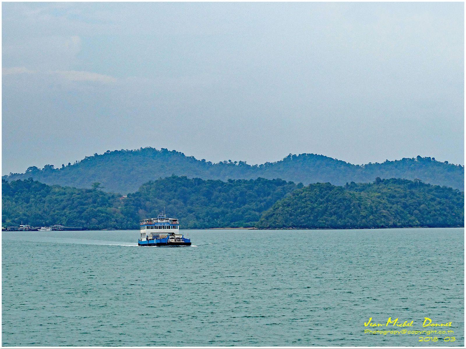 L'arrivée sur Ko Chang, destination Coral resort.