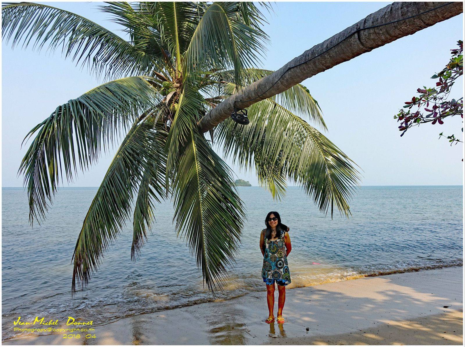 Une plage bien ombragée sur Ko Chang (Thaïlande)