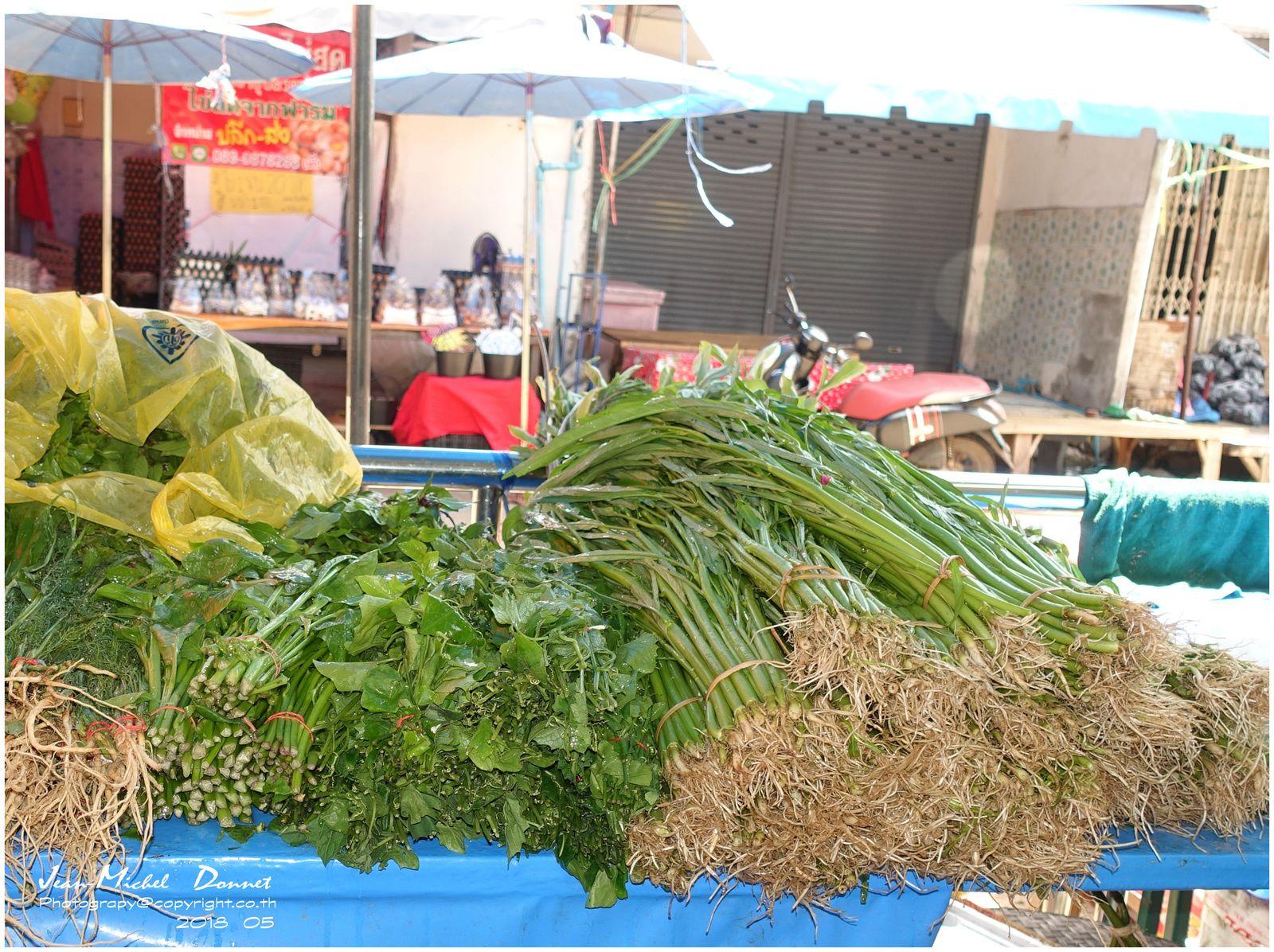 Petit tour au marché (ubonrat, Thaïlande)