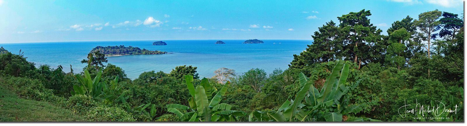 Le long des plages de Koh Chang (Thaïlande)