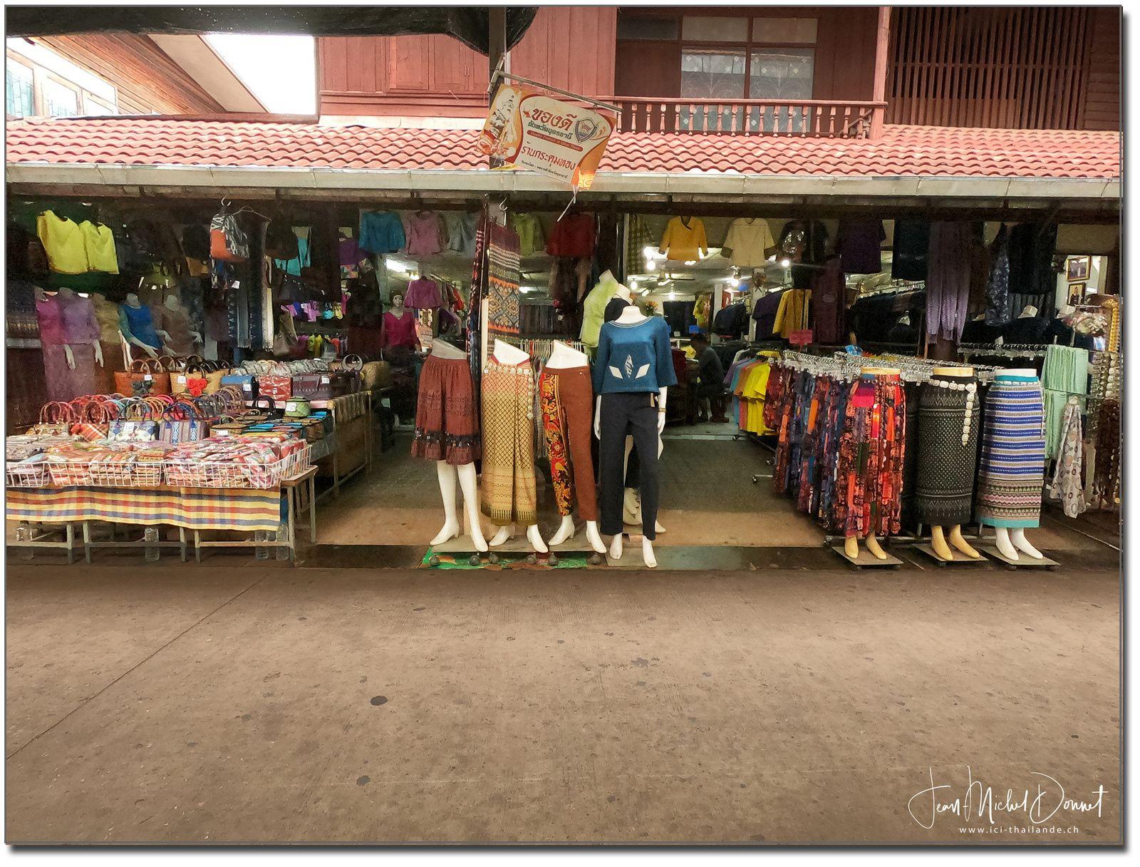 Marché de la soie (Thaïlande, Udon Thani)