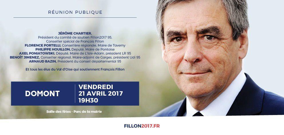 Réunion de soutien à François Fillon le 21 avril à Domont