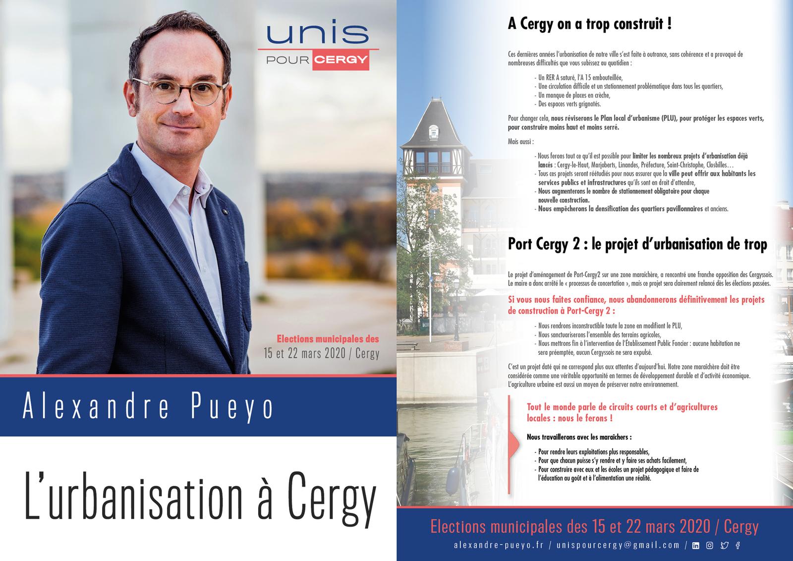 Pour une nouvelle politique d'Urbanisme à Cergy