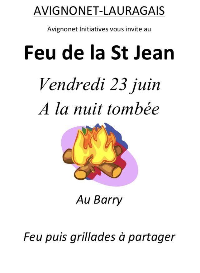 Le Feu de la Saint Jean  Avignonet, c'est... vendredi soir...