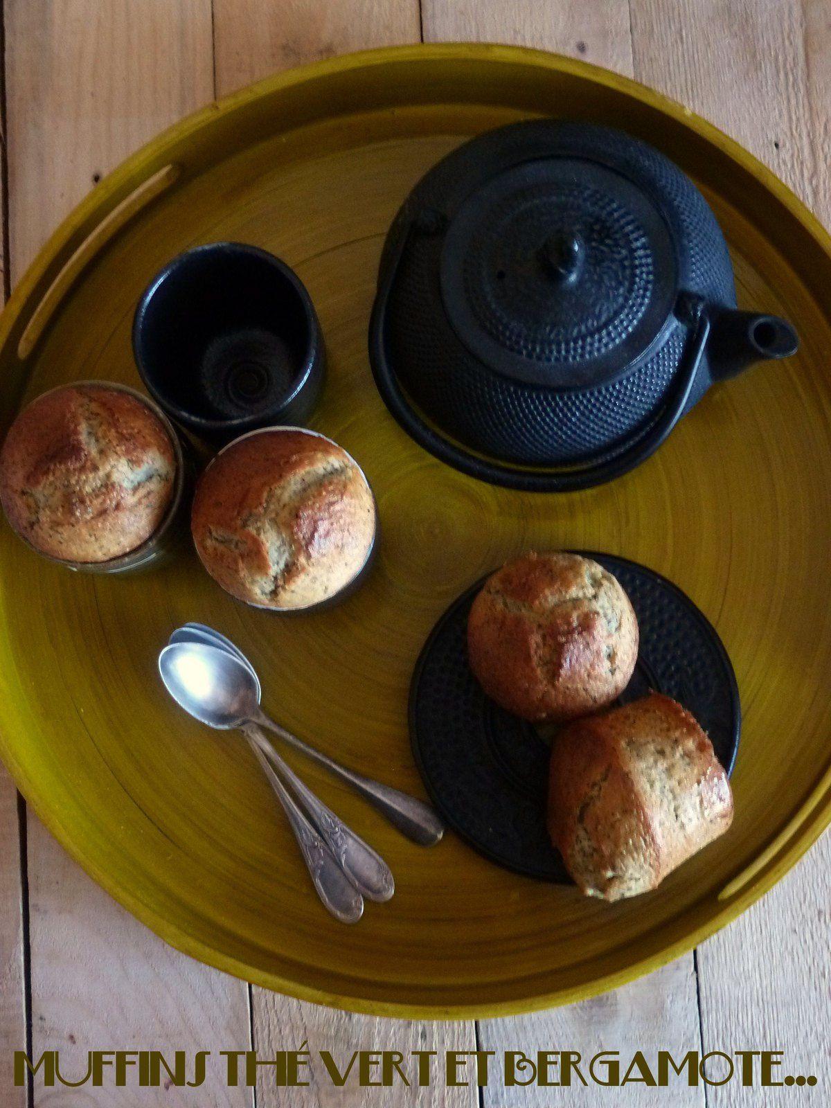 Muffins au thé vert et à la bergamote