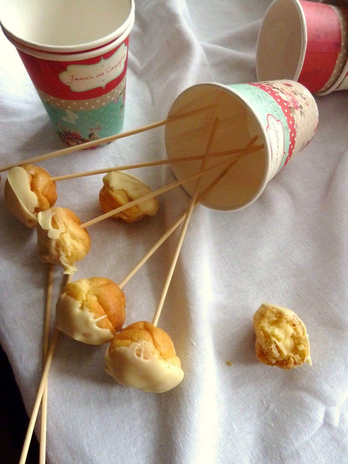 Pops choux bergamote-chocolat blanc